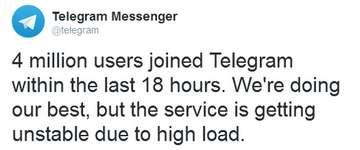 Telegram ist die Top Eins in Download-Charts