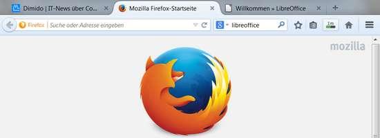 Neuer Firefox mit abgerundeten Tabs-Reiter