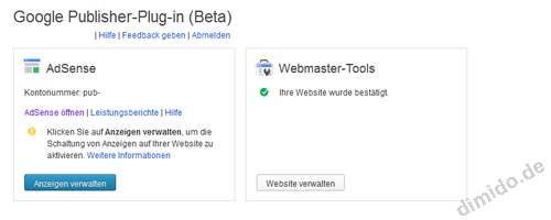 Google Publisher Plugin für WordPress