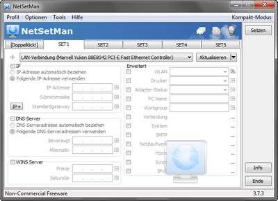 Mit Netsetman verwalte deine Netzwerkeinstellungen