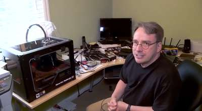 Linus Torvalds zeigt uns sein Home-Office