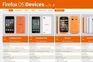 Portal rund um Smartphones und Geräte mit Firefox OS
