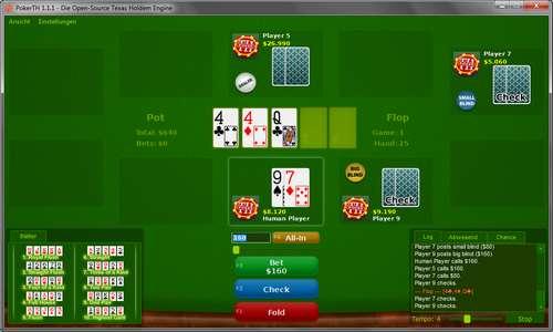 PokerTH - Poker spielen, kostenlos und Open Source