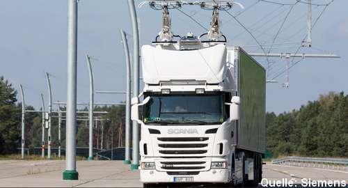 Deutsche Autobahnen bekommen Oberleitungen