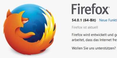 Mozilla Firefox Browser 64-Bit wird standard